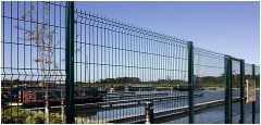 Introduction of welded mesh fence