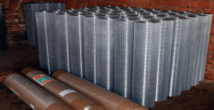 Welded wire mesh with anti-corrosion and oxidation resistance and other characteristics